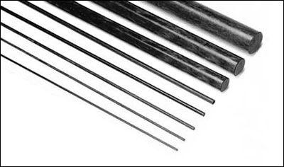 Carbon CFA Carbon Fiber Pultruded Rod 1m x 6mm