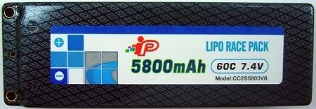 Battery LiPo Intellect LIPO 5800mAh 60C 2S Hardcase Pinned