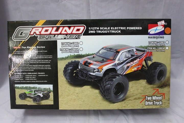 Cars Elect RTR HBX 1/12 Scale Ground Crusher Truck Brushed Motor 2.4G Radio Battery & Charger included.