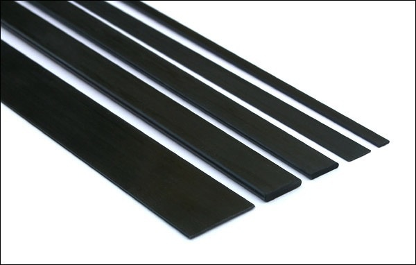 Carbon CFA Carbon Fiber Pultruded Flat Strip 1m x 25.4mm x 0.8mm
