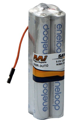 Battery NiMh MI Tx Battery Eneloop 2000mA 9.6V Square JR Con