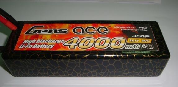 Battery LiPo Gens Ace 4000mAh 11.1v 30C Hardcase LiPo (ACE-4000330)