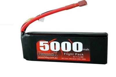 Battery LiPo Redback Lipo Battery, 11.1v LiPo, 5000MAH Flight