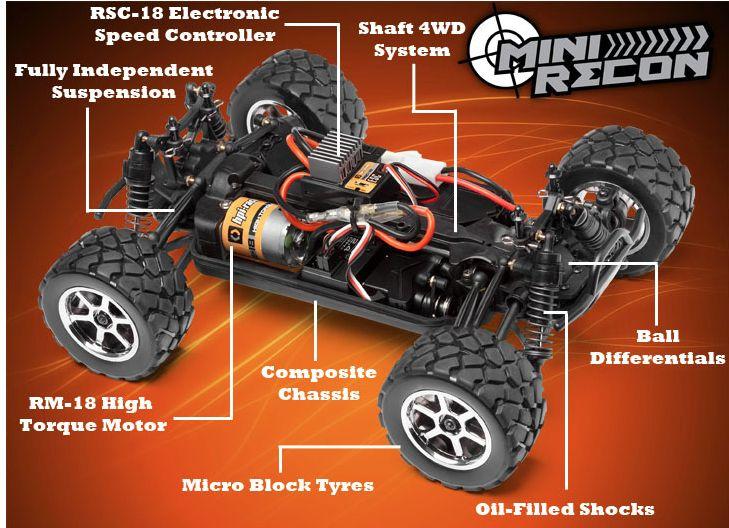 Cars Elect RTR HPI 1/18 Mini Recon MT RTR