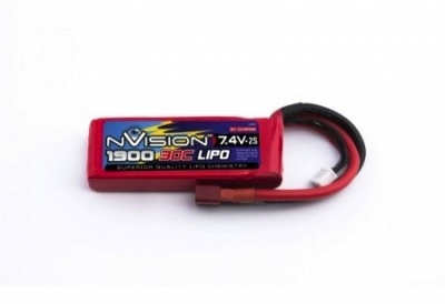Battery LiPo NVision 7.4v 1900mah SC 30c Lipo Battery suit RC18