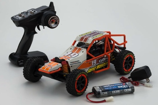 Cars Elect RTR KYOSHO 1/10 EP2SM RSET Sand Master White/Orange +2.4G Inc Batt & Charger (Shock oil in Box)