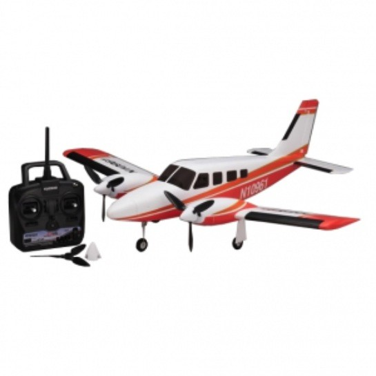 Aircraft Electric Kyosho Airium Piper PA34 VE29 Twin R/S Red wo/battery