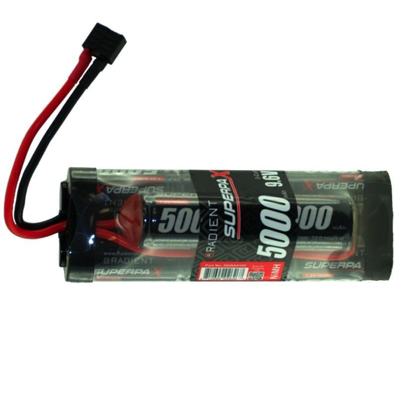 Battery NiMh RADIENT Supermax NIMH Battery SC 9.6V 8-Cell 5000Mah 6-2 Hump Pack: Deans suit Helion Invictus
