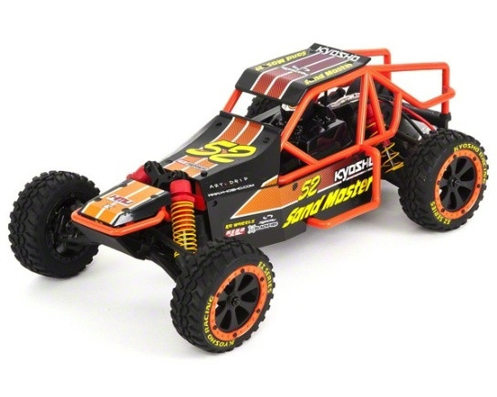 Cars Elect RTR KYOSHO 1/10 EP2SM RSET Sand Master Black/Orange +2.4G Inc Batt & Charger (Shock oil in Box)