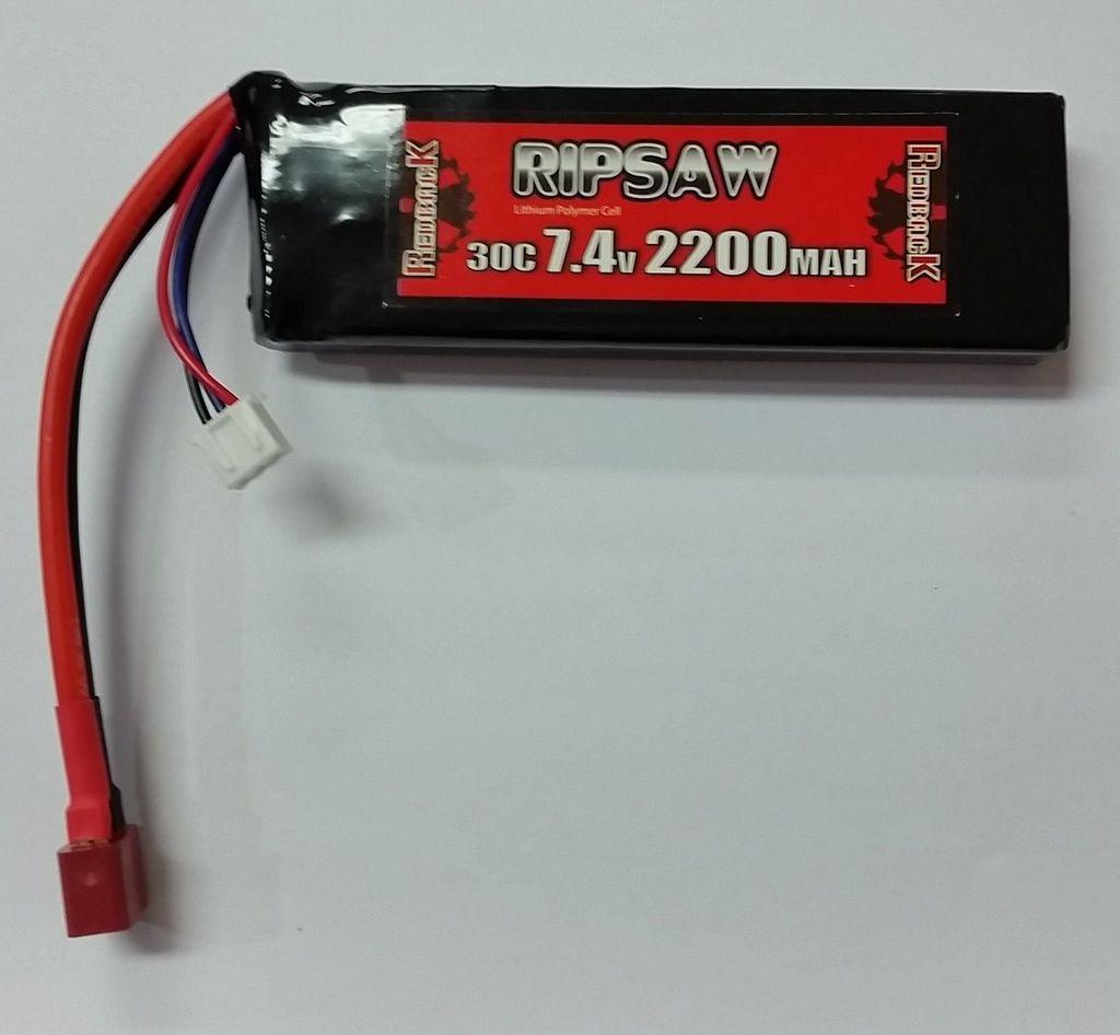Battery LiPo Redback Ripsaw Lipo Battery 7.4V, 2200MAH 30C, TX Size