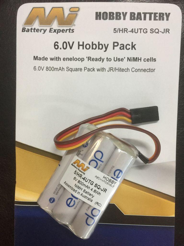 Battery NiMh MI Rx Battey Eneloop 800mA AAA 4.8V Square JR