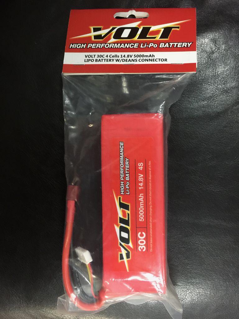 Battery NiMh Volt  30C 4 Cells 14.8V 5000ma LiPo Battery w/Deans Connector