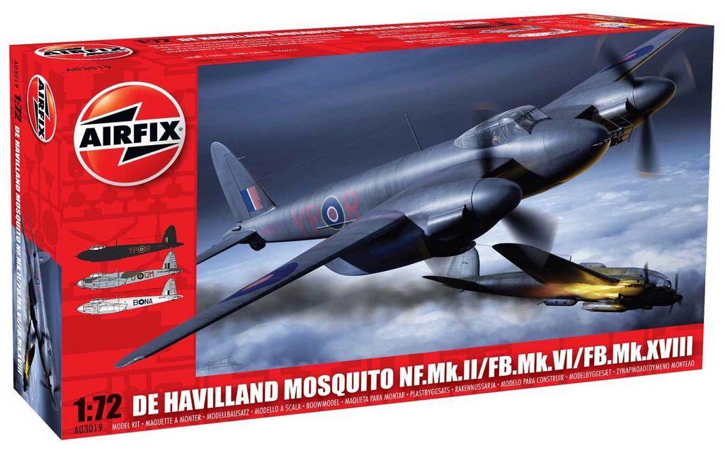 Aircraft Electric Airfix De Havilland Mosquito MkII/VI/XVIII 1:72