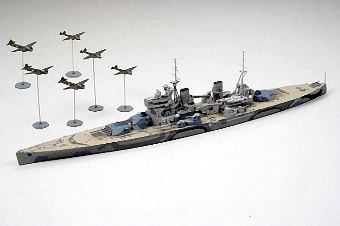 Plastic Kits Tamiya British Battleship Prince of W - Battle of Malaya 1/700  Scale