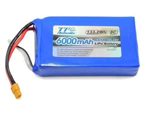 Battery LiPo Thunder Tiger 22.2v 6000mah 8C Li-po Battery (Ghost)