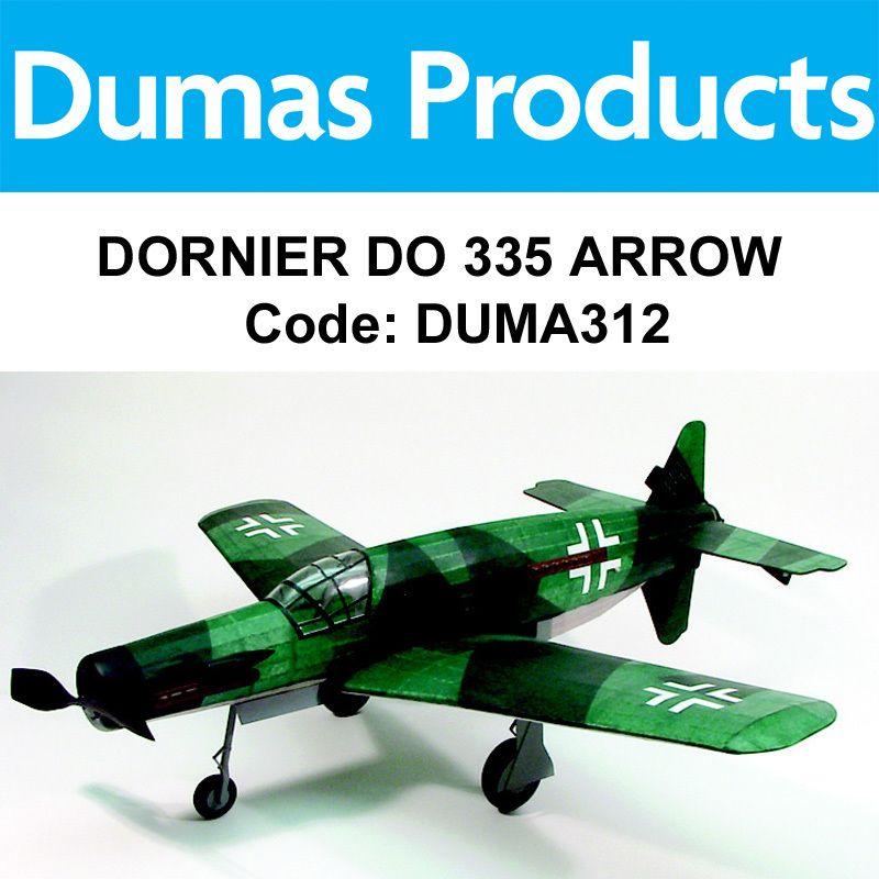 "Aircraft DUMAS 312 Dornier DO 335 Arrow 30"" Wingspan Rubber Powered"
