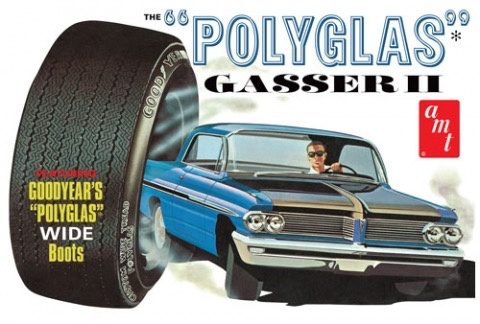 "Plastic Kits AMT (new) 1:25 1962 Pontiac Catalina ""Polyglas Gas"" Car"