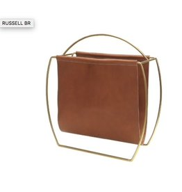 Display Russell Leather Magazine Rack