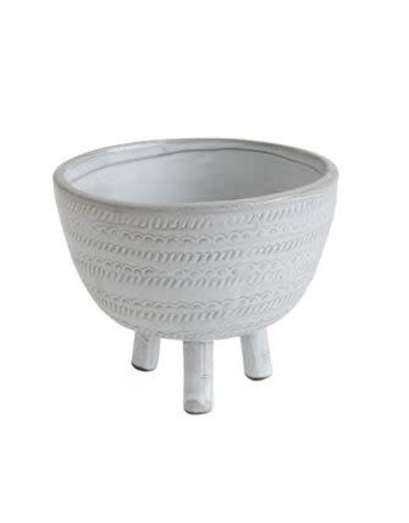 Footed Terracotta Bowl