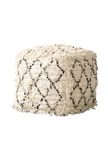 Display Cotton Moroccan Wedding Quilt Poof