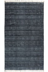 Display Indigo Block Pring Rug 5x8