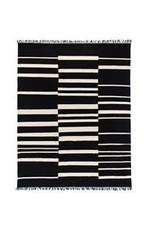 Display Offset Black Stripe Cotton Rug 5x8