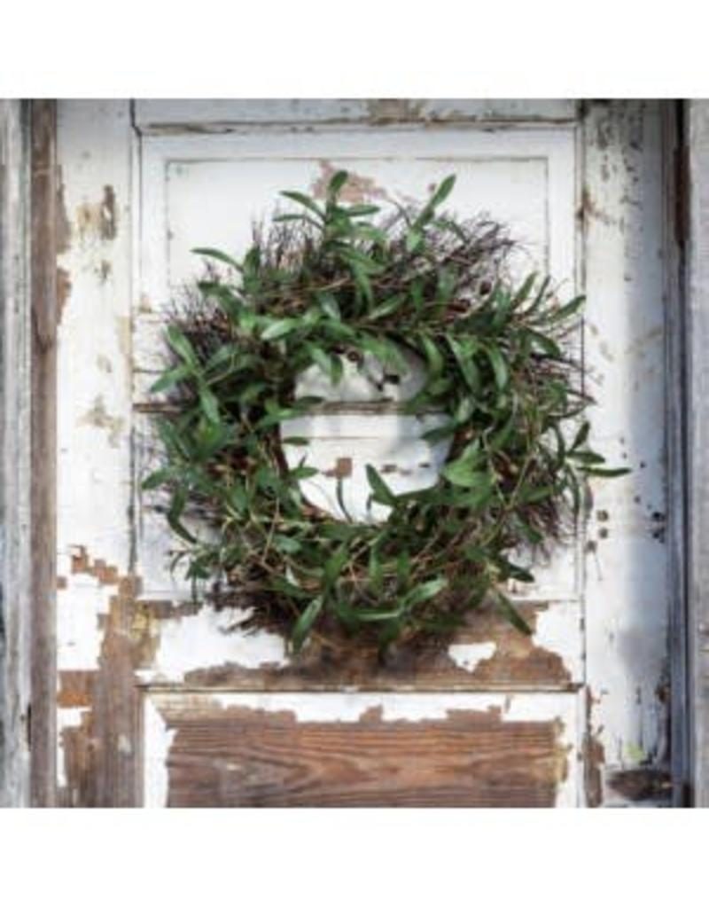 Gathered Olive & Twig Wreath