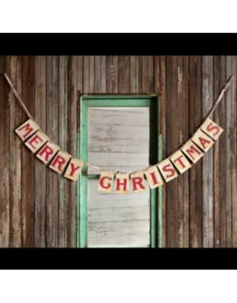 Merry Christmas Card Garland