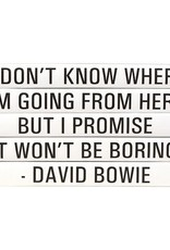 "Website David Bowie ""I Don't Know Where..."""