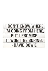 "David Bowie ""I Don't Know Where..."""