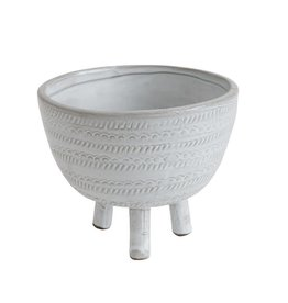 Embossed Terra-cotta Pot/Footed Bowl