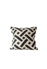 "24"" Kuba Pillow, Black & Natural"