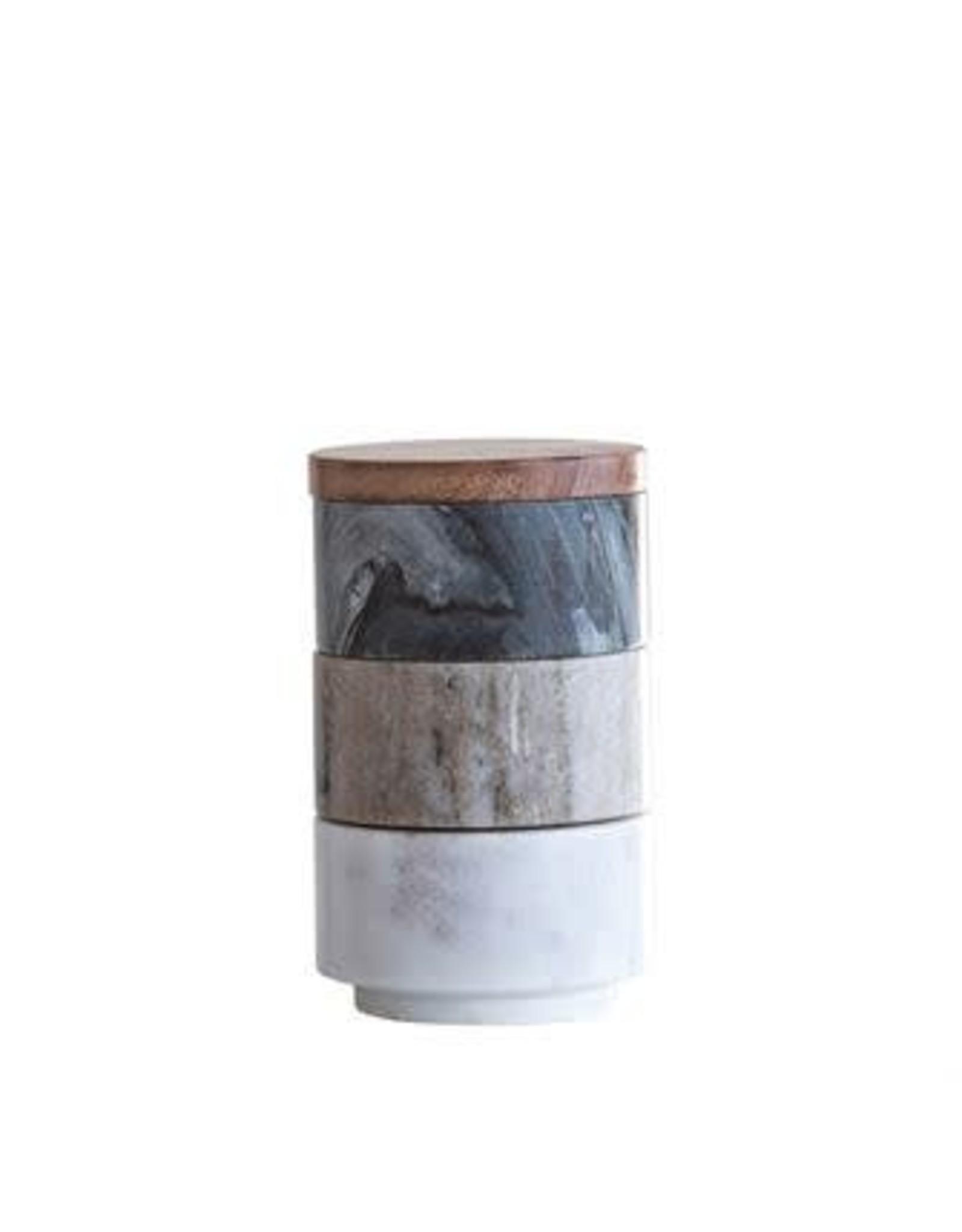 Marble Stacking Pinch Pots set/3