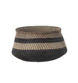 Basketweave Planter w/ Black Stripes