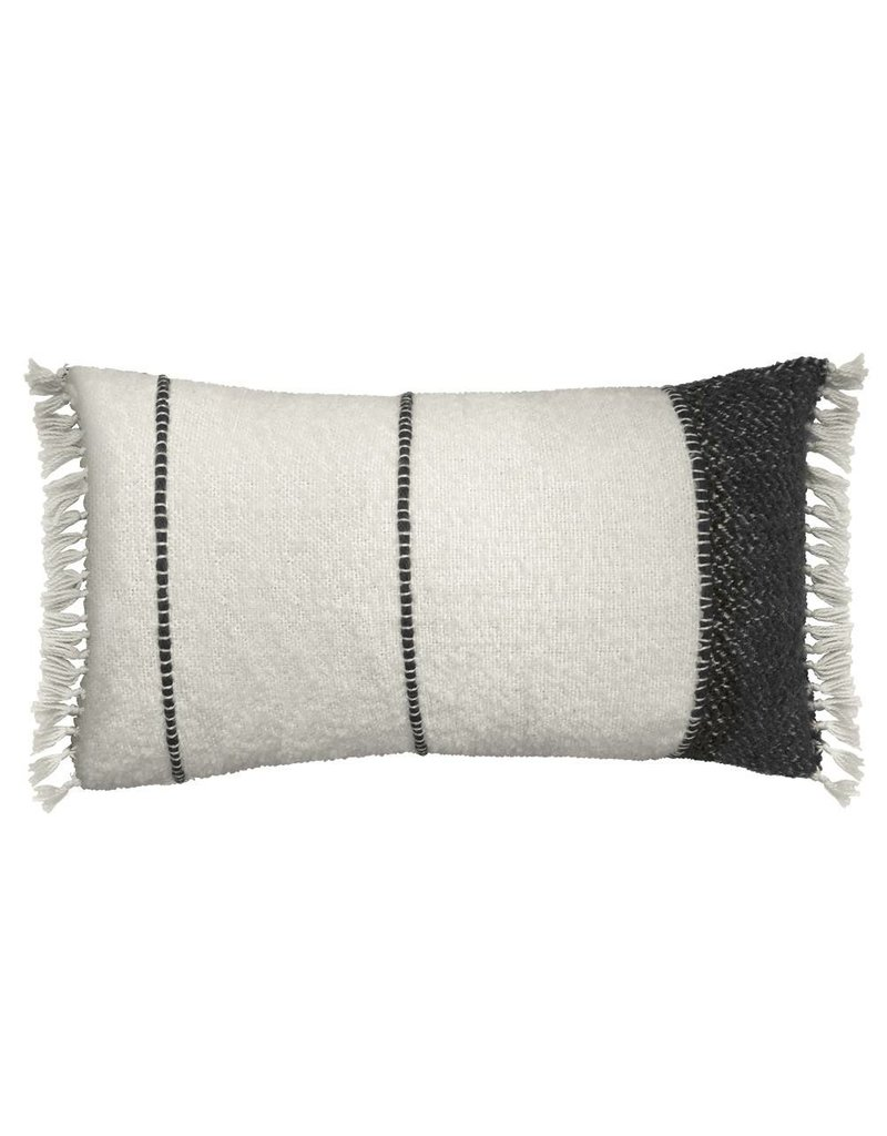 Off White/Black Lumbar Pillow