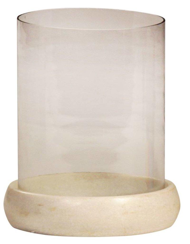 Glass Hundi w/ Marble - large
