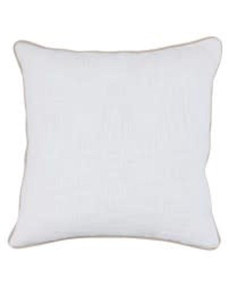 """Alba White Pillow 22"""""""