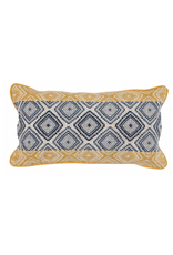 Florence Sunflower/Navy Pillow 14 x 26""