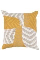 "Ryan Sunflower/Ivory Pillow 20"""