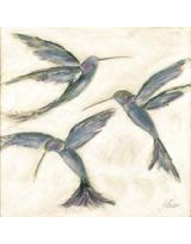 "Elaine Gleason Ruby Throated Hummingbirds 12"" x 12"""