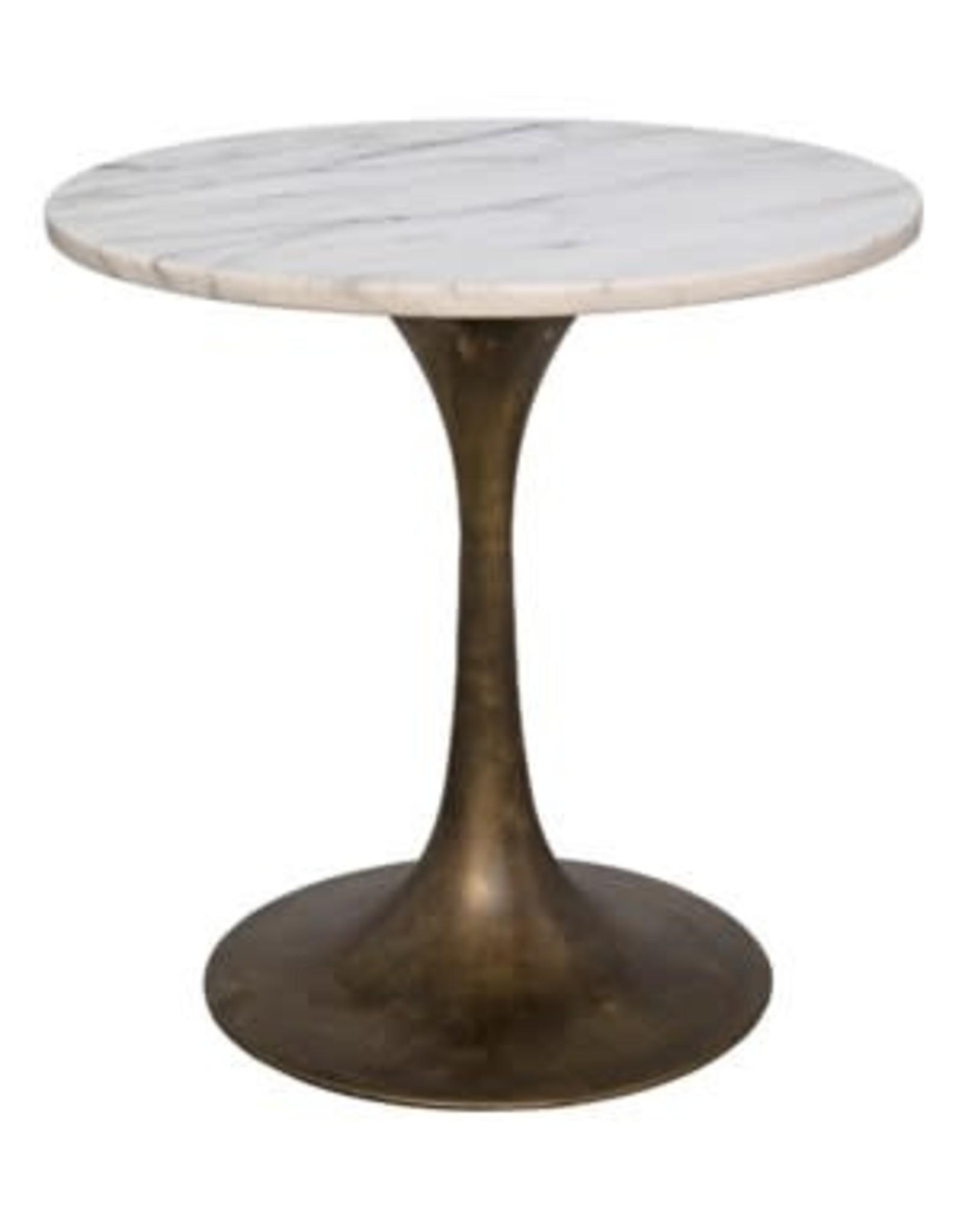 """Laredo 20"""" White Marble Table"""