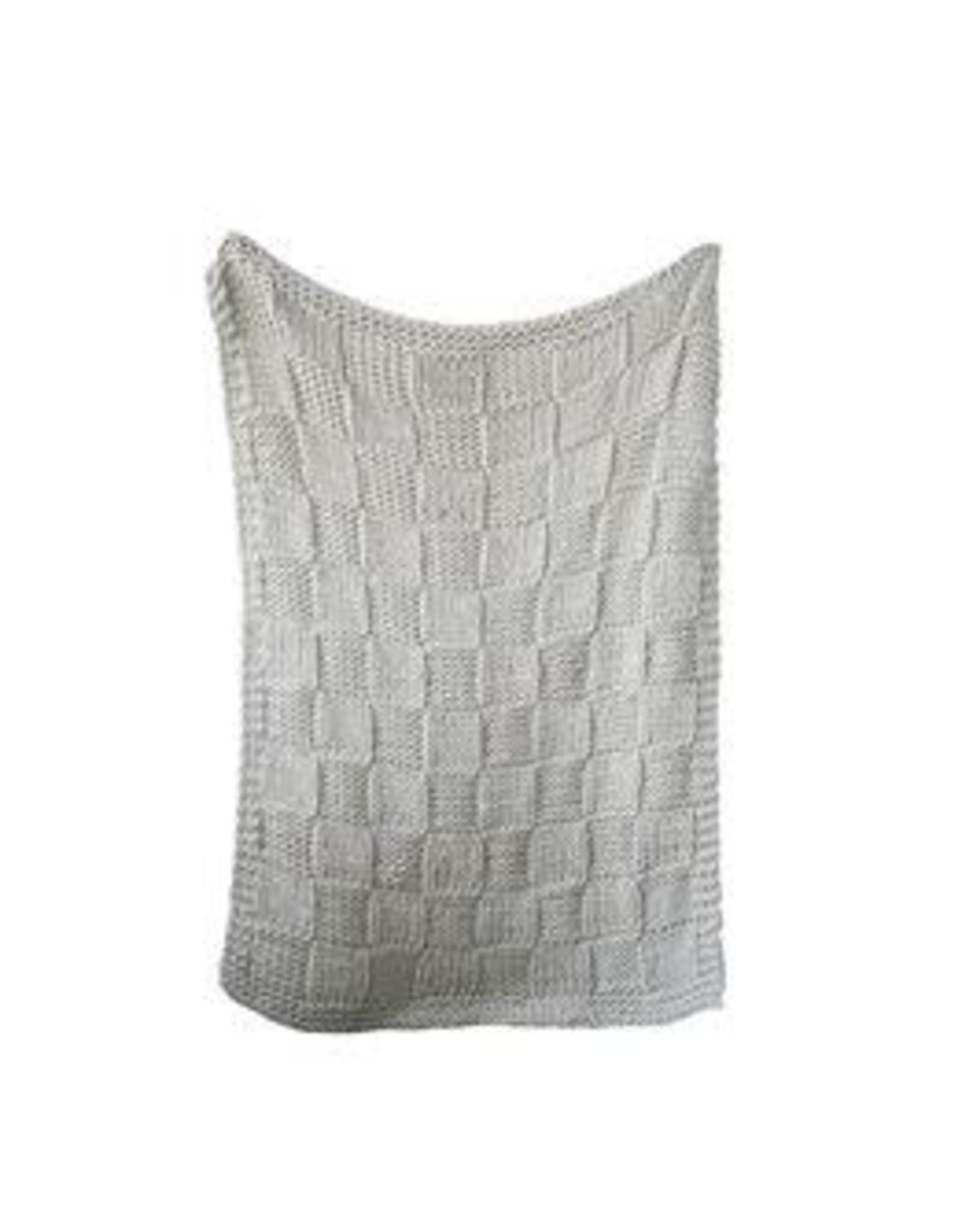 Chunky Knit Acrylic Throw, Natural