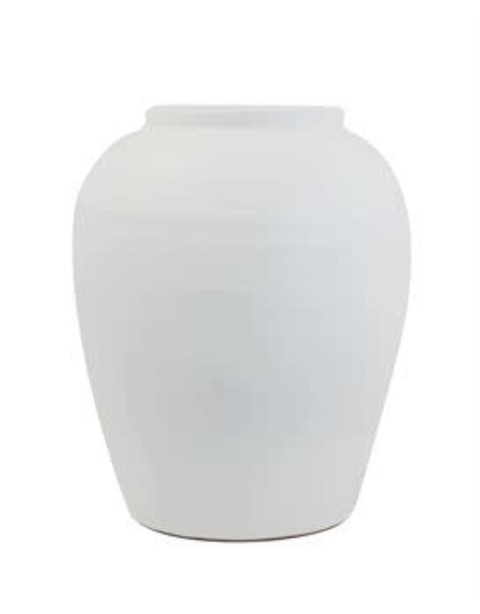 Terra-Cotta Planter, White