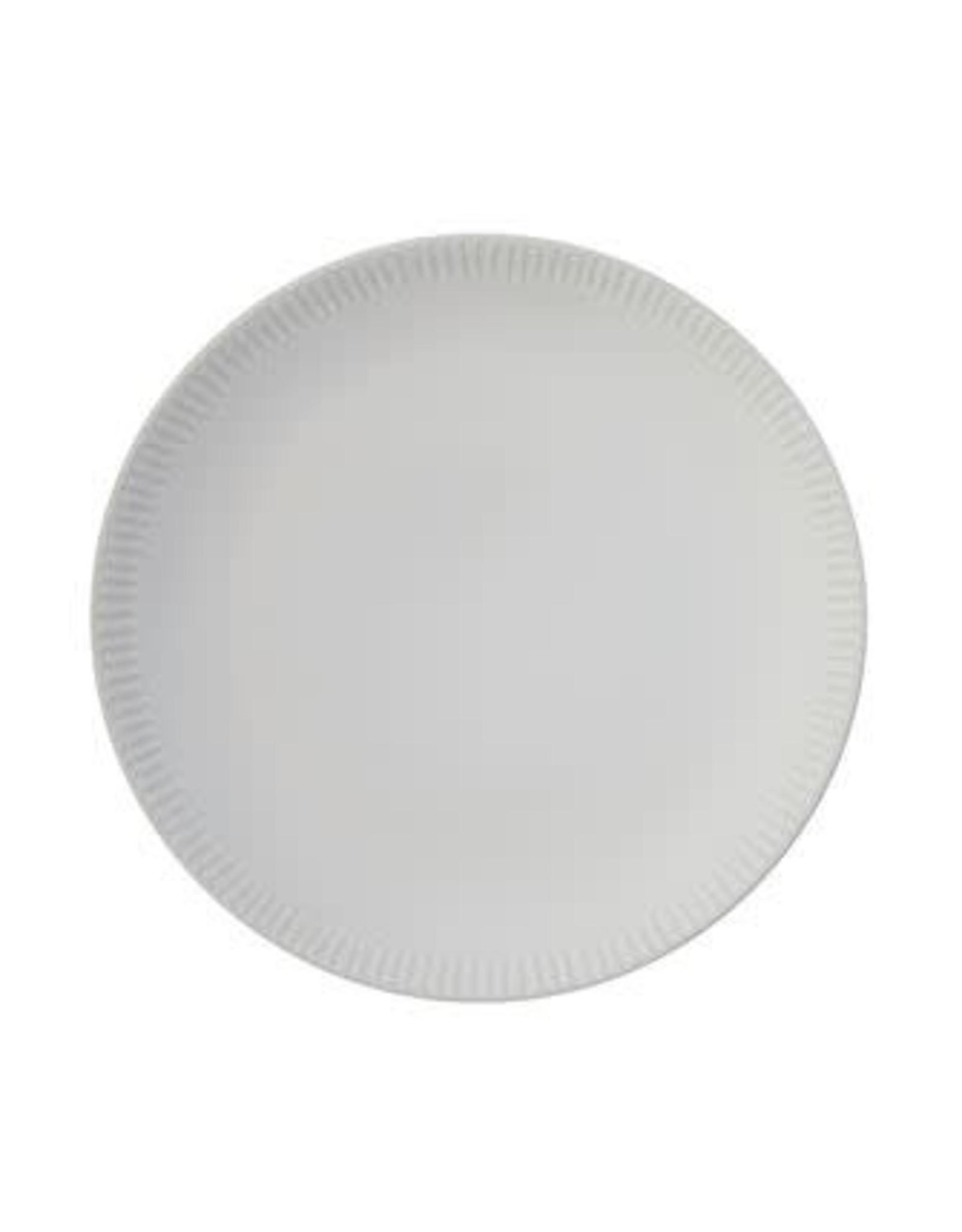 Stoneware Plate w/ Crimped Edge
