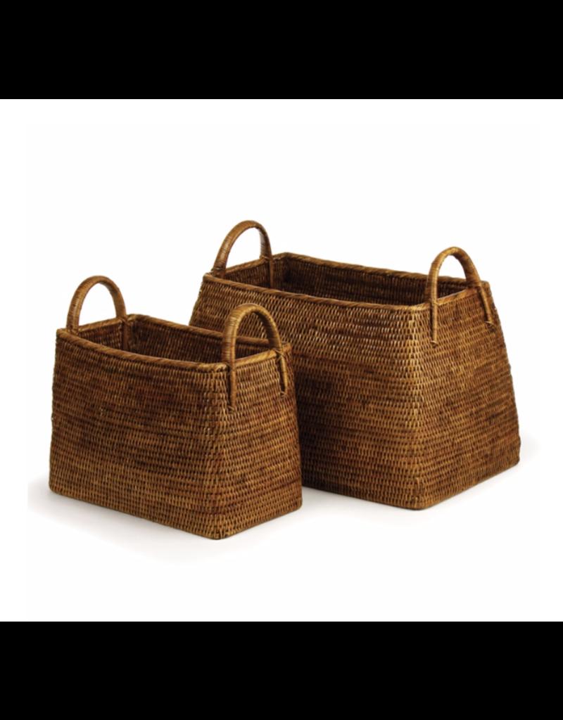 Burma Rattan Narrow Magazine Basket - large