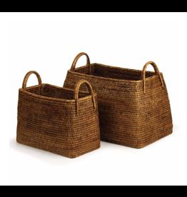 Burma Rattan Narrow Magazine Basket - small