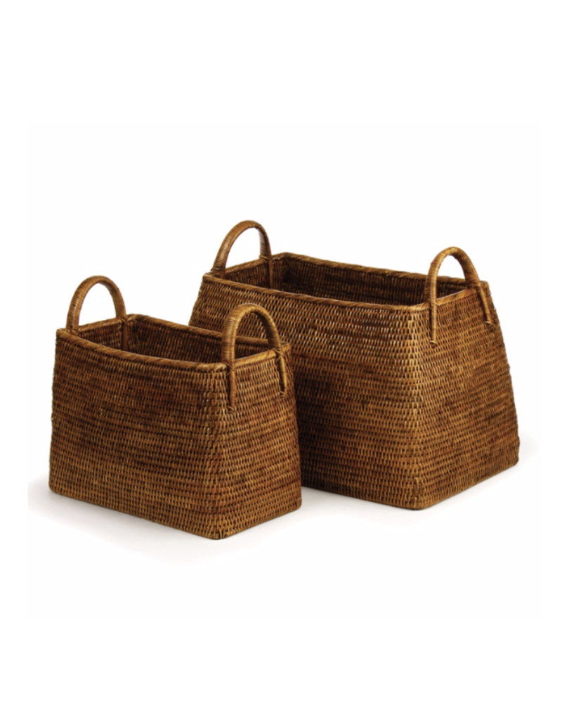 Burma Rattan Narrow Magazine Basket - small