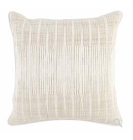 """Avery Ivory/Natural Pillow 20"""""""