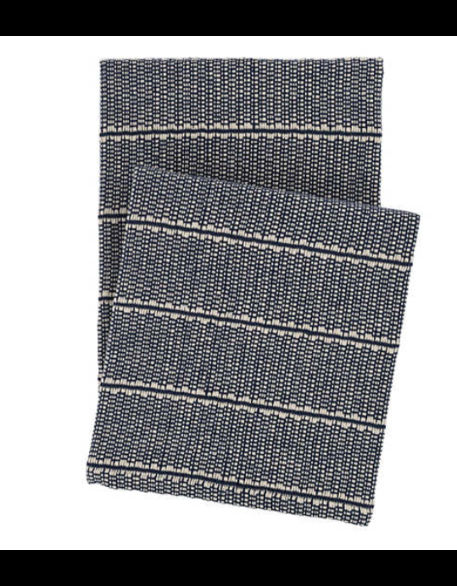 Archer Navy Woven Cotton Throw