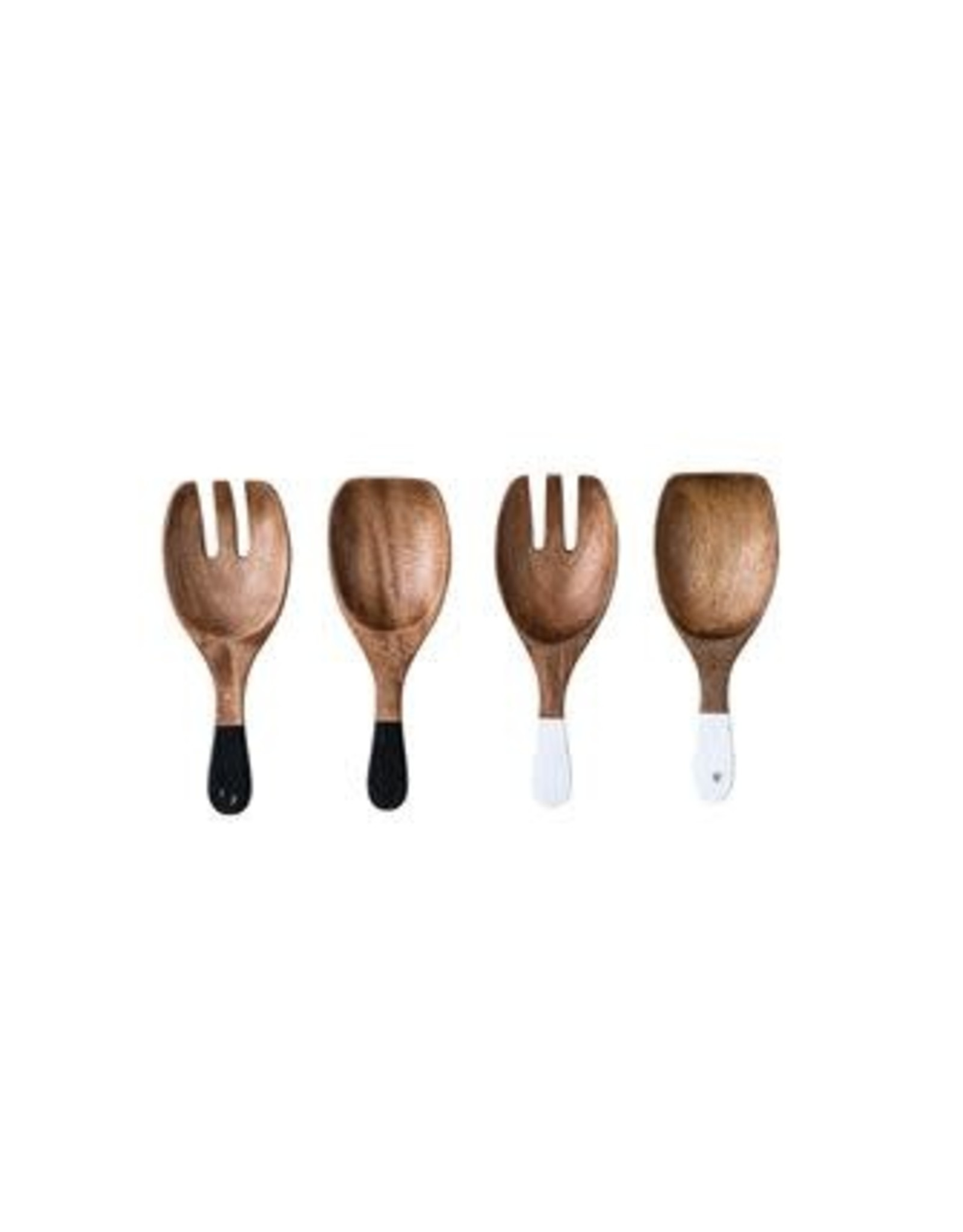 SOD Hand Carved Wood Salad Servers